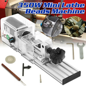 350w Mini Lathe Beads Machine Wood Working Diy Lathe Polishing Drill