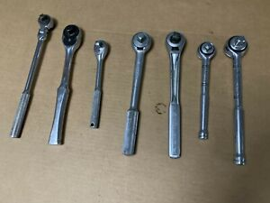 7pc Ratchet Lot Craftsman Proto Armstrong