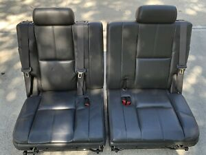 07 14 Suburban Tahoe Yukon Xl 3rd Row Split Seats Black Leather