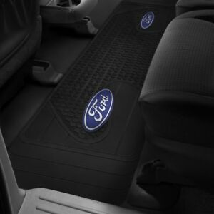 Rear Floor Mat Runner Ford Logo F 150 F 250 F 350 Rubber Liner Black Slush Mat