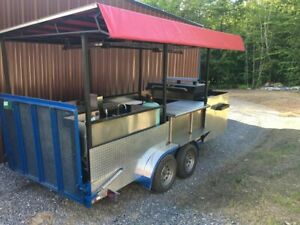 Custom Open 8 X 16 Grill And Bbq Smoker Trailer For Sale In Vermont