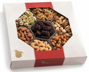 Holiday Nuts Gift Basket Large 7 sectional Elegant Nuts Assortment Gourmet