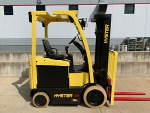 2013 Hyster E50xn 27 4 Wheel Electric Yale Fork Lift Compact Forklift Lifttruck