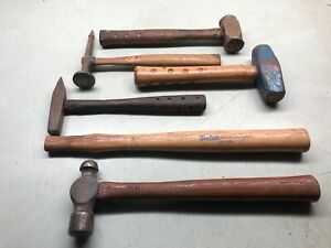Mixed Hammer Lot Long Pick Ball Pein Anvil Sledge Tools Blue Point Craftsman