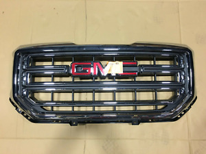 New Gmc Sierra 1500 Grille W Chrome Border And Insert For 2016 2018 No Emblem