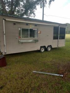 Used 8 X 27 Food Concession Trailer With Screened Porch For Sale In Alabama