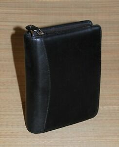 Franklin Covey Black Compact Planner Nappa Leather Binder 1 5 Rings Binder