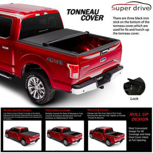 Fits 2004 2018 Ford F 150 Lock Soft Roll Up Tonneau Cover 5 5ft 66in Short Bed
