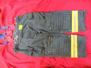 Morning Pride Bunker Pants Turnout Gear Fdny Style Size 44 X 29 Suspenders