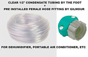 1 2 Diameter Clear Condensate Tube Tubing By The Foot Hose Coupler Dehumidifier