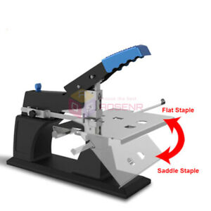 A3 Manual Saddle Stapler Bookbinding Machine Flat Binding Stitcher Binder