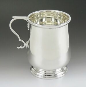 Sterling Silver Tiffany Co Colonial American Style Christening Cup Or Mug