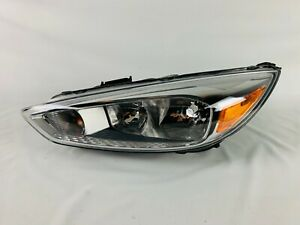 2015 2016 2017 2018 Ford Focus Left Driver Halogen Headlight Oem W O Led