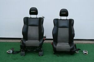 06 08 Dodge Charger Rst8 Front Seat Seats Pair Set Electric Black Leather Oem