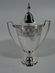 Tiffany Trophy Cup 18408a Antique Art Deco Urn American Sterling Silver