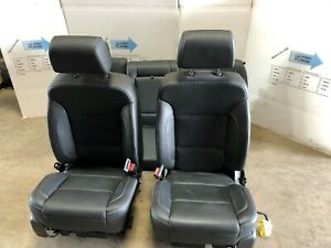18 Gmc Chevy Sierra Silverado Z71 Leather Bucket Seats Heated And Cooled W Rear