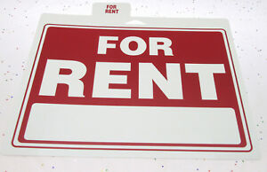 9x12 For Rent Sign Plastic Apartment House Housing