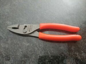 Snap on Tools 137acf Combination Slip Joint Pliers Heavy Duty Orange Handle New