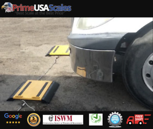 Optima Op 928 Axle Scale Portable Wheel Weigher Truck Scale 2 Pads 50 000 Lb