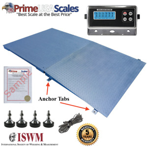 New 5 000 Lb X 1 Lb 5 x5 60 X 60 Floor Scale Pallet Scale With Ramp