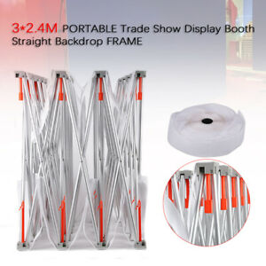 10ft Trade Show Display Booth Pop Up Stand Kit Exhibits Backdrop Wall Easy Carry
