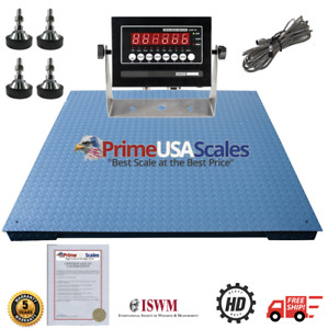 4x4 Pallet Floor Scale Ntep 10 000 Lb Indicator Legal 4 Trade 5 Year Warranty