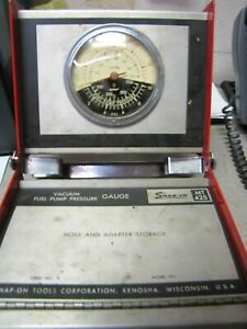 Snap On Mt425 Vacuum Fuel Pump Pressure Gauge In Case