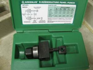Greenlee 231 15 Pin D subminature Panel Punch Set