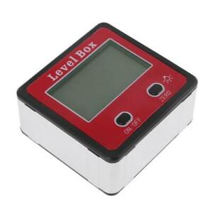 Digital Inclinometer Spirit Level Protractor Angle Gauge Meter Bevel Level Box