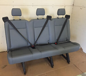 2015 2019 Ford Transit Van 3 Person Couch Bench Seat Gray Vinil
