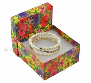 100pc Gift Boxes Floral Printed Gift Box Cotton Filled Gift Box Large Boxes 2 h