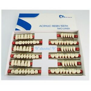 5boxes 15sets Dental Acrylic Resin Teeth Denture Material Vita A1 Size L501