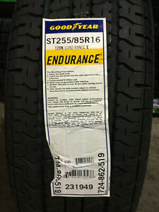 2 New St 255 85 16 Lre 10 Ply Goodyear Endurance Radial Trailer Tires