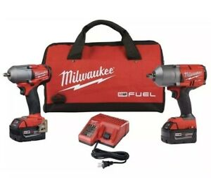 Milwaukee 2993 22 M18 Fuel High Torque 1 2 In And 3 8 In Impact Wrench Kit