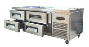 Freezer Ice Tank With Four Drawer Commercial Kifchen Refrigerator Salad Table