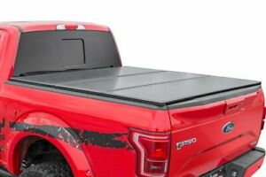 Rough Country Hard Tri Fold Fits 2016 2020 Toyota Tacoma 5 Ft Bed Tonneau Cover