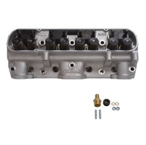 Edelbrock 61599 D Port Assembled Cylinder Head 204cc Intake For Pontiac