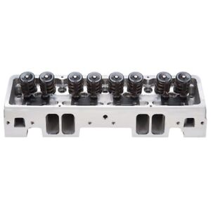 Edelbrock 61259 Victor Jr 23 Assembled Cylinder Heads For Sb Chevy