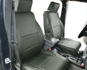 Jeep Wrangler Jk 2007 4doors Charcoal S leather Custom Front rear Seat Covers