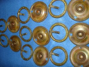 Set Of 8 Vintage Brass Bronze Colored Drawer Pulls Made In England