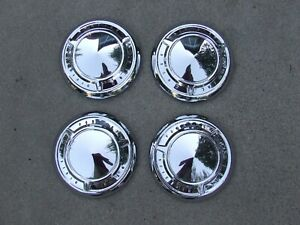 1961 66 Pontiac Poverty Hub Caps 4 Nos 9700635 Catalina Ventura