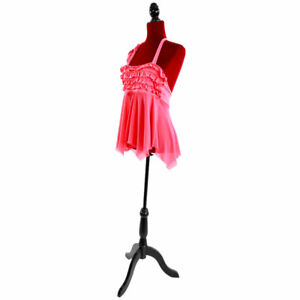 Red Half length Foam Brushed Fabric Coating Lady Model For Clothing Display Us