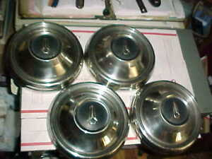 Set 4 Dog Dish Taxi Hubcaps 68 69 Plymouth Belvedere Satellite Gtx Roadrunner