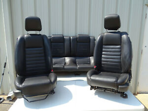 05 06 07 08 09 Ford Mustang Coupe Black Oem Seat Set Of Seats Clean Take Outs