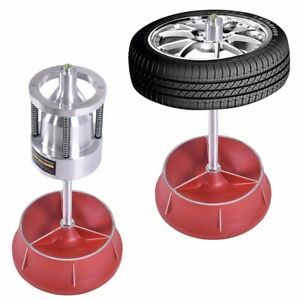 Pro Heavy Duty Hubs Wheel Balancer W Bubble Level Rim Tire Auto Cars Portable