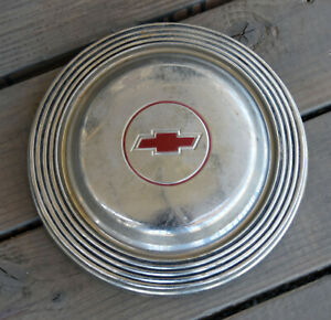 Vintage 1960 S Chevrolet Chevy Dog Dish Poverty Hubcap Wheel Cover 10 5 Inch