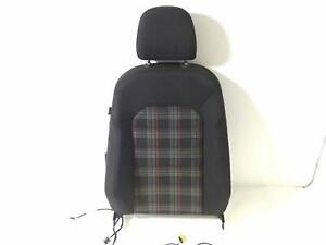 Front Upper Seat Back Vw Gti 4 Door 15 18 Rh Passenger Plaid Cloth Manual Heated
