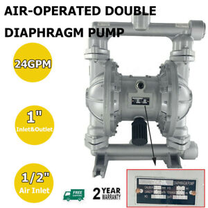 Air operated Double Diaphragm Pump 1 Inlet Outlet Petroleum Fluids 115psi 24gpm