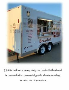 Used 8 X 16 Heavy Duty Food Concession Trailer With Commercial Grade Equipment
