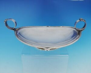 Gorham Coin Silver Bowl Footed W Applied Ring Handles And Bows 10 3633